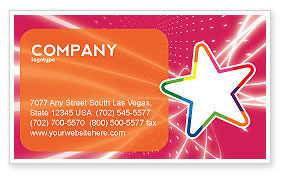 Disco Star Business Card Template, 03020, Art & Entertainment — PoweredTemplate.com