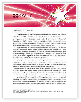 Art & Entertainment: Disco Star Letterhead Template #03020