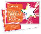 Art & Entertainment: Disco Star Postcard Template #03020