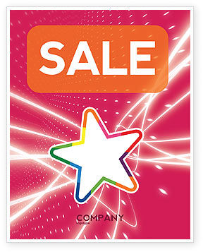 Art & Entertainment: Disco Star Sale Poster Template #03020