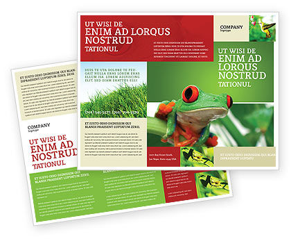 Toad Brochure Template, 03024, Agriculture and Animals — PoweredTemplate.com