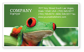 Agriculture and Animals: Toad Business Card Template #03024