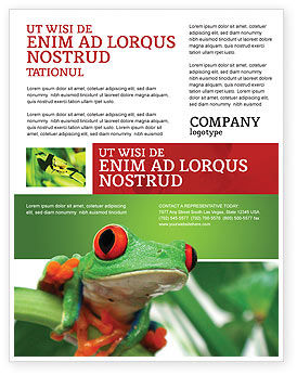 Toad Flyer Template, 03024, Agriculture and Animals — PoweredTemplate.com