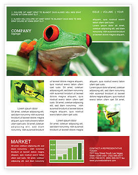 Agriculture and Animals: Toad Newsletter Template #03024