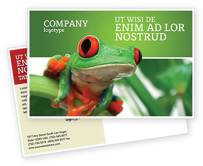 Toad Postcard Template, 03024, Agriculture and Animals — PoweredTemplate.com