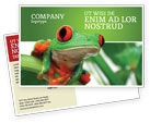 Agriculture and Animals: Toad Postcard Template #03024