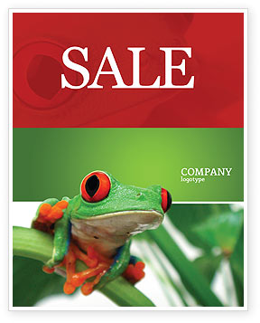Agriculture and Animals: Toad Sale Poster Template #03024