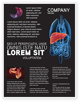 Medical: Liver Flyer Template #03025