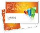 Business Concepts: Rating Histogram Postcard Template #03026