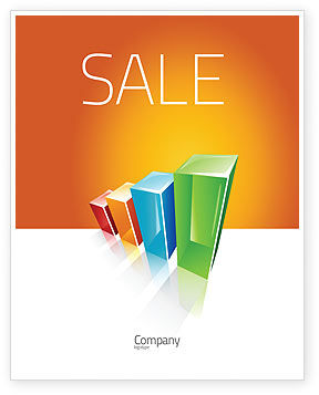 Business Concepts: Rating Histogram Sale Poster Template #03026