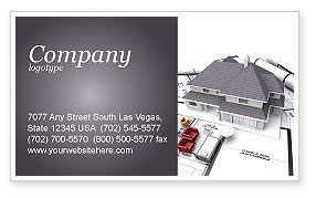 Construction: Townhouse Project Business Card Template #03027