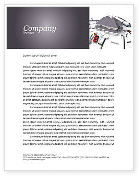 Townhouse Project Letterhead Template, 03027, Construction — PoweredTemplate.com