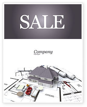 Townhouse Project Sale Poster Template, 03027, Construction — PoweredTemplate.com
