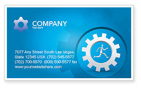 Running Business Card Template, 03028, Technology, Science & Computers — PoweredTemplate.com