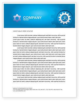 Running Letterhead Template, 03028, Technology, Science & Computers — PoweredTemplate.com