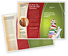 Education & Training: Books Stack In Hands Brochure Template #03029