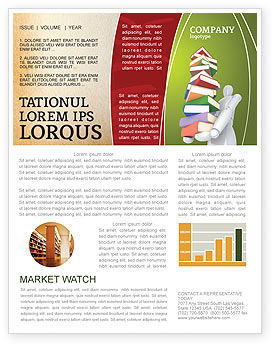 Education & Training: Books Stack In Hands Newsletter Template #03029