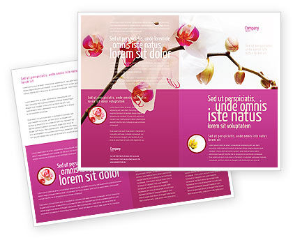Nature & Environment: Bouquet Of Flowers Brochure Template #03033