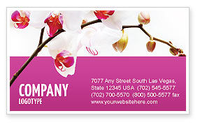 Nature & Environment: Bouquet Of Flowers Business Card Template #03033