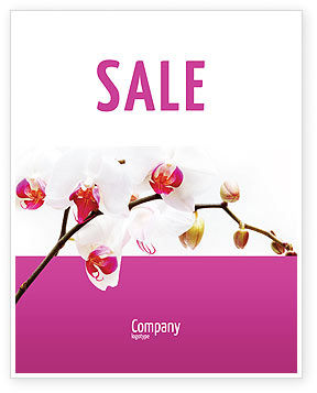 Bouquet Of Flowers Sale Poster Template