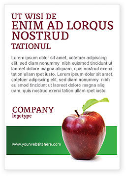 Agriculture and Animals: Red Apple Ad Template #03041