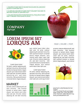Agriculture and Animals: Red Apple Newsletter Template #03041