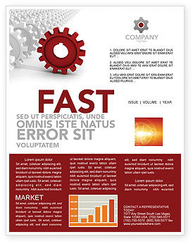 Detail Newsletter Template, 03047, Business Concepts — PoweredTemplate.com