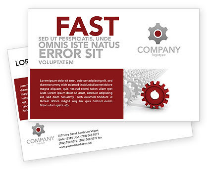 Business Concepts: Detail Postcard Template #03047