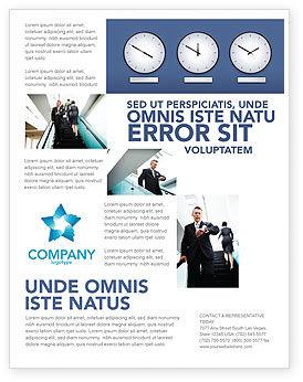 Business: Modelo de Folheto Grátis - horas #03050