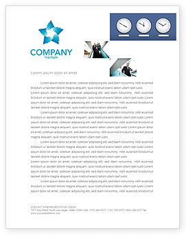 Hours Letterhead Template, 03050, Business — PoweredTemplate.com