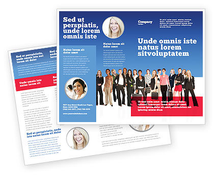 Women Brochure Template, 03059, People — PoweredTemplate.com