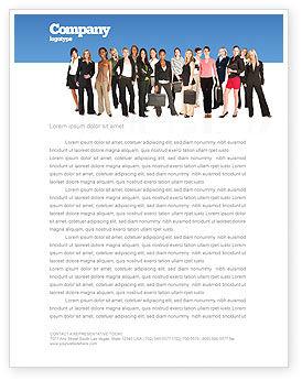People: Women Letterhead Template #03059