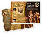 Education & Training: Hands Up Brochure Template #03060