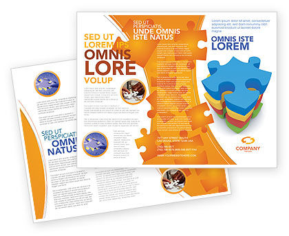 Puzzle Complete Brochure Template, 03061, Business Concepts — PoweredTemplate.com
