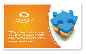 Business Concepts: Puzzle Complete Business Card Template #03061