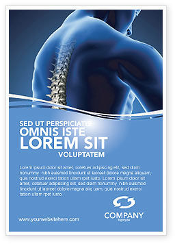 Spine Ad Template, 03062, Medical — PoweredTemplate.com