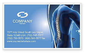 Medical: Spine Business Card Template #03062