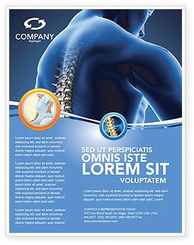 Spine Flyer Template, 03062, Medical — PoweredTemplate.com