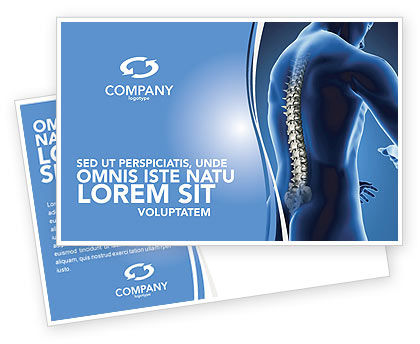 Medical: Spine Postcard Template #03062