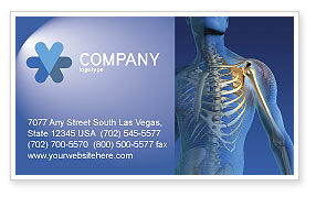 Medical: Bones Business Card Template #03063