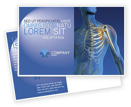 Bones Postcard Template, 03063, Medical — PoweredTemplate.com