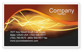 Light Business Card Template, 03064, Abstract/Textures — PoweredTemplate.com