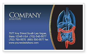Medical: Bowels Business Card Template #03065