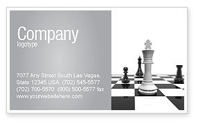 Business Concepts: Chess White Begin And Win Business Card Template #03069