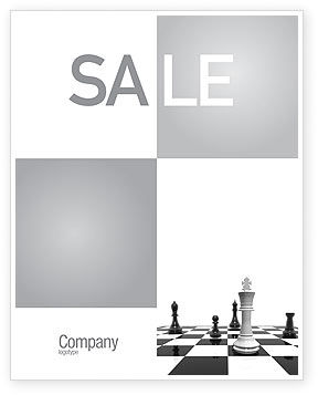 Business Concepts: Chess White Begin And Win Sale Poster Template #03069