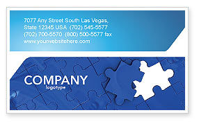 Abstract/Textures: Blue Jigsaw Business Card Template #03070