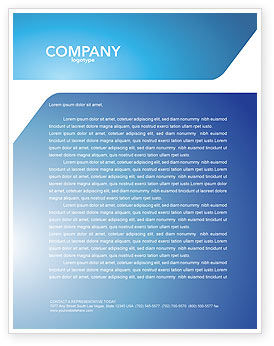 Blue Jigsaw Letterhead Template, 03070, Abstract/Textures — PoweredTemplate.com