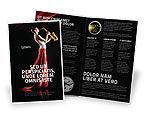 Art & Entertainment: Jazz-saxophon in den lippen des mädchens Broschüren Vorlage #03071