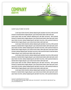 Education & Training: Knowledge Letterhead Template #03072