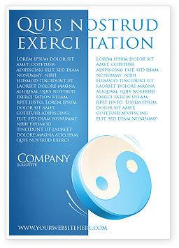 Religious/Spiritual: Blue yin yang Anzeigenvorlage #03073